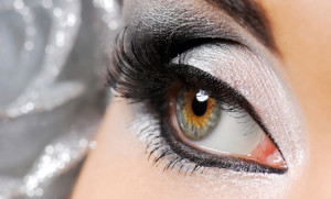 Fashion. Happy new year make-up. Woman eye.