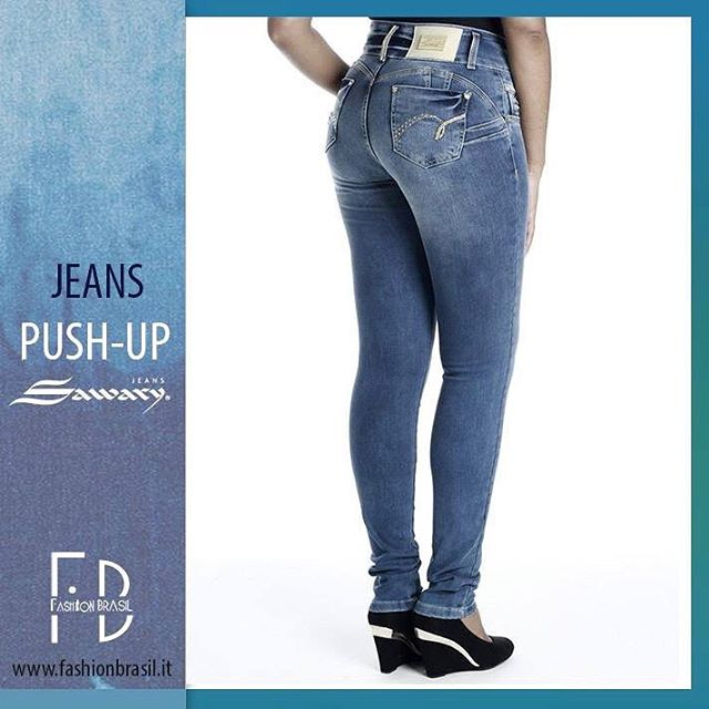 Jeans push up brasiliani Sawary vita media cod 240861 modellohellip